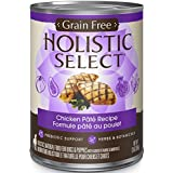 Holistic Select Grain Free Chicken Natural Wet Canned Dog Food, 13-Ounce Can (Pack of 12)