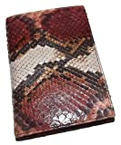 Baglioni Italia Genuine Python Snakeskin Address & Memo Book Red Multi