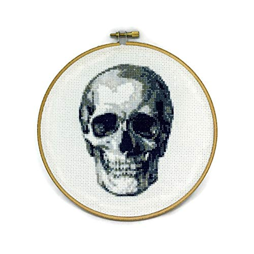 Anatomical Skull Counted Cross Stitch Kit DIY