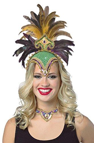 [Mememall Fashion Las Vegas Showgirl Headpiece and Choker Set] (Vegas Superstar Costumes)