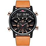 Men Army Sport Leather Watches Luminous Watch...