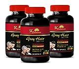 Energy Supplements for Women - Anti-Gray Hair Solution - for Men and Women - zinc Bulk - 3 Bottles (180 Capsules)