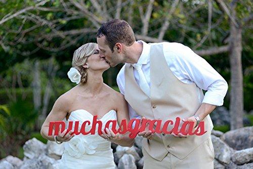 Muchas Gracias Sign Wedding Photo Prop