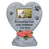 PETAFLOP Dog Photo Frame Cat Memorial Plaque Personalised Garden Marker Grave Heart Tombstone - Gift or Memorial for Loss of Pet