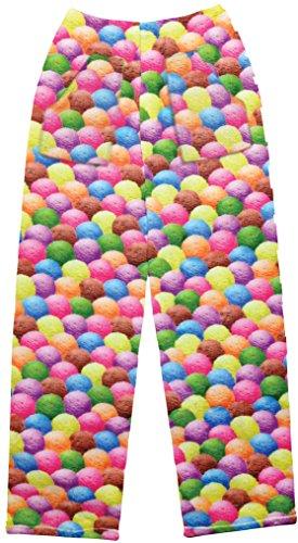 - iscream Big Girls Fun Print Silky Soft Plush Pants - Sweet Scoops,Sweet Scoops,Large (14)
