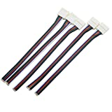 LEDENET Newest 5pins Quick Connectors 12mm RGBW RGBWW LED Strip Conductor, Free Welding, Easy Solution DIY (5-pack) (12mm connector box with cable)