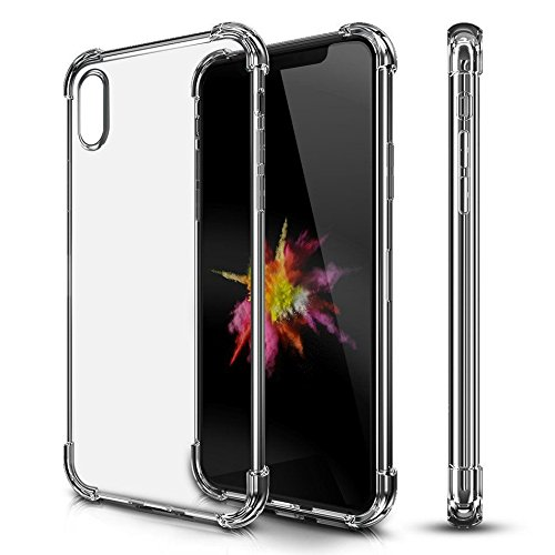 iPhone X Case [Wireless Charging Compatible] Thin Lightweight Transparent Shock Absorbing Bumper Frame Scratch Resistant Drop Protection Apple iPhone 10 (2017) Crystal - Specs For Latest Girl Frame