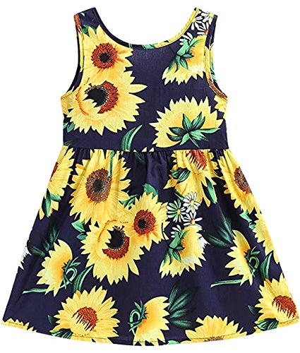 Beautiful, Navy and Yellow flowered, Dress