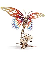 Ugears 3D Puzzles Kit Butterfly Mechanical Models | Wooden Puzzle Brain Teaser Construction Craft Kits for Adults | DIY Puzzle Learning Toys for Kids Woodcraft Building Set 3D Puzzle Kit for Adults…