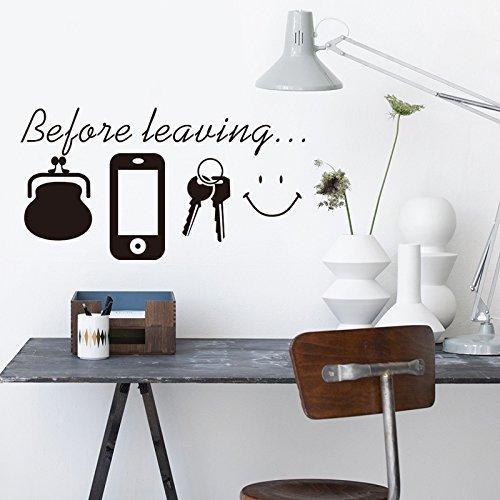 Romote Prima di lasciare promemoria adesivi murali camera da letto soggiorno decalcomanie della decorazione della parete della porta per il manifesto murale giornaliera
