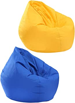 Clothes Storage Bag Indoor Outdoor Garden Beanbag Seat Stuffed Animal Toy Organizer 30x30x35 Inch Homyl Extra Large Classic Bean Bag Chair Cover Coffee