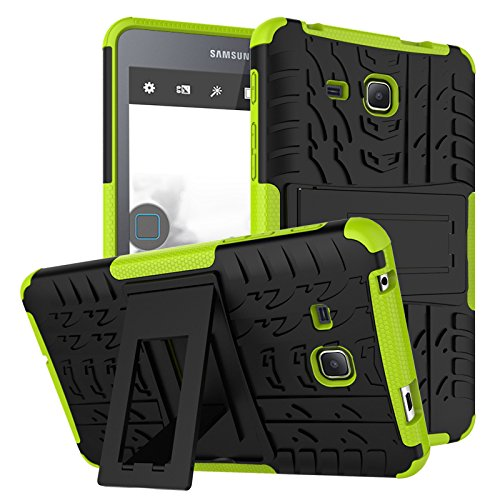 Samsung Galaxy Tab A 7.0 Case,Jeccy Full-body Shock Proof Hybrid Heavy Duty Armor Defender Protective Case with Kickstand,Hard Plastic TPU Case for Samsung Tab A 7.0 inch (SM-T280/SM-T285) 2016 (Inch Box 7 Outter Case Tablet)