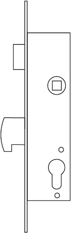 Tesa Assa Abloy 2240353AI Cerradura monopunto para perfiles m/étalicos Acero Inoxidable
