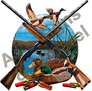 aj 39 s signs apparel duck and guns vinyl sticker decal cars trucks vans walls laptop. Black Bedroom Furniture Sets. Home Design Ideas