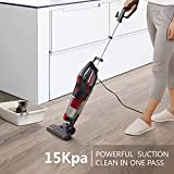 Dibea 600W Lightweight Corded Stick Vacuum Cleaner, 2 in 1 Bagless Hard Floor Pet Hair Vacuum with Cyclone HEPA Filtration & Crevice Tool-SC4588