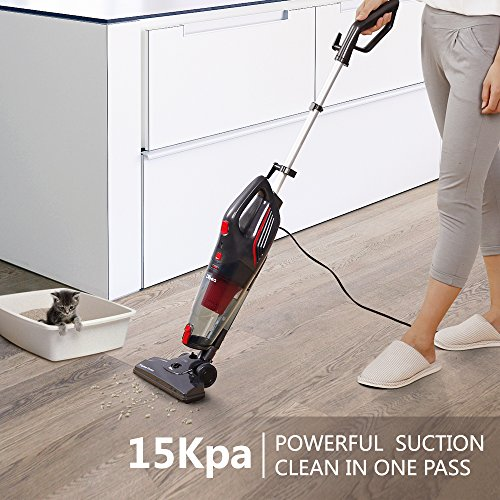 Dibea 600W Lightweight Corded Stick Vacuum Cleaner, 2 in 1 Bagless Hard Floor Pet Hair Vacuum with Cyclone HEPA Filtration & Crevice Tool-SC4588 by Dibea (Image #1)