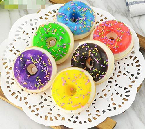 Skyseen 6 PCS Realistic Artificial Donuts Fake Cake Dessert Model Refrigerator Magnets Photography Props Home Decoration