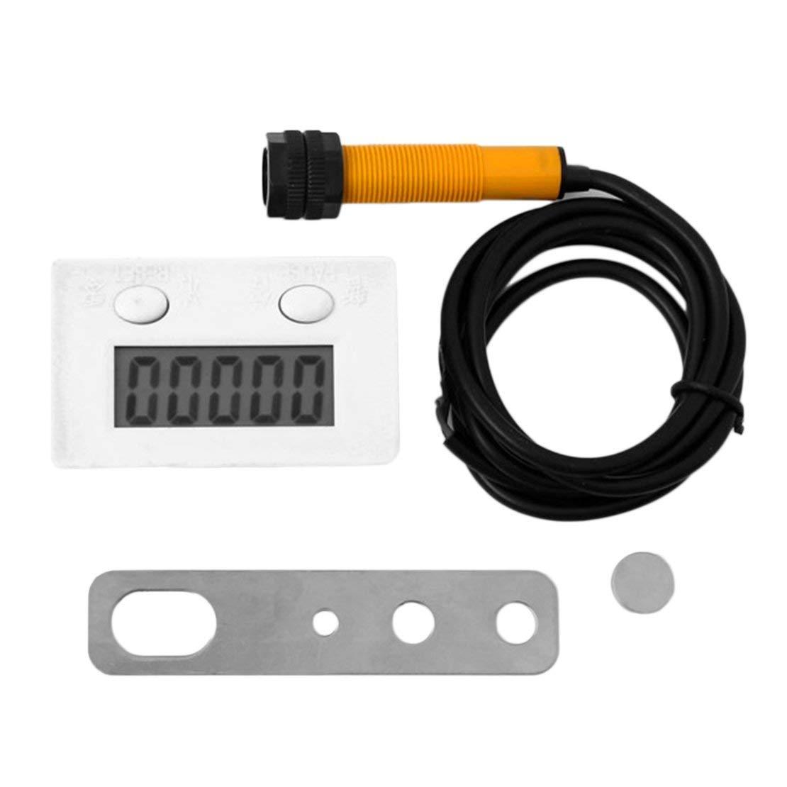Prá ctico punzó n digital Contador electró nico Inductivo magné tico Pantalla LCD Interruptor de proximidad Potente imá n TT-5J Sanzhileg