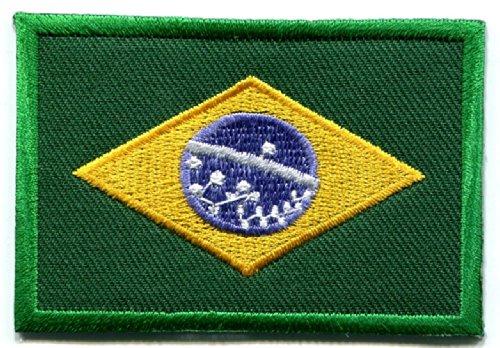 Brazilian Flag Brazil Rio South America Applique Iron-on Patch Medium New S-107 T- Shirt
