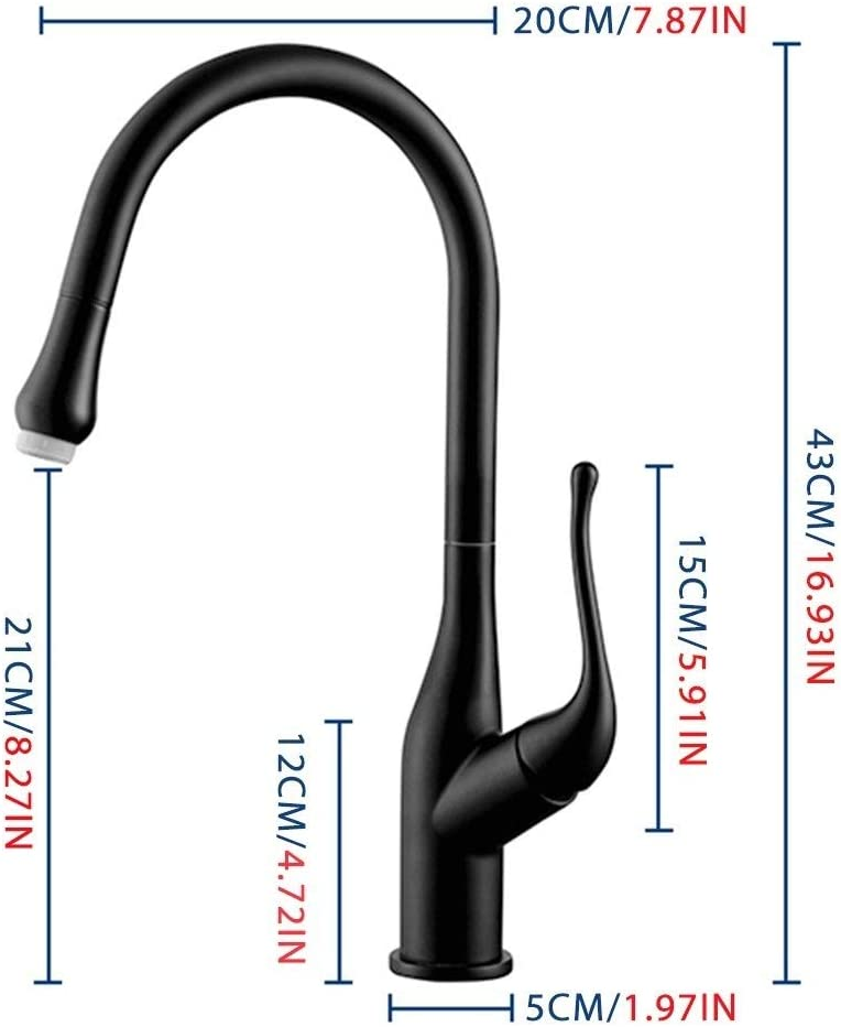 JX 360-Degree Rotating Kitchen Faucet Touch Sensing Single Hole Hot and Cold Smart Sensor Faucet Soft Water Out and Fingerprint Prevention Color : Black