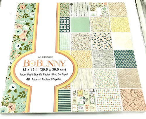 Bo Bunny Early Bird Collection 12 x 12 Paper 48 Papers 7310526 ()