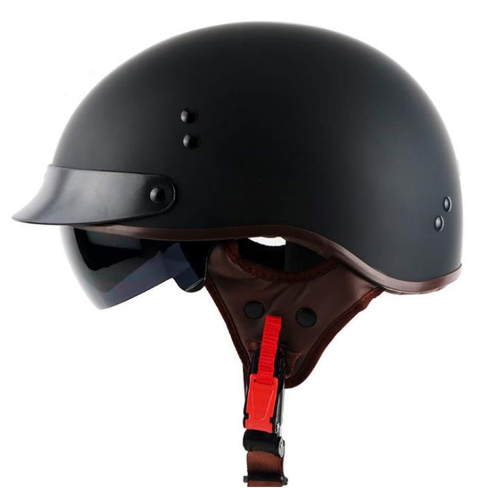 adult cruiser scooter bicycle Harley half helmet DOT approved male//female four seasons universal,angel,M Evin Retro motorcycle helmet