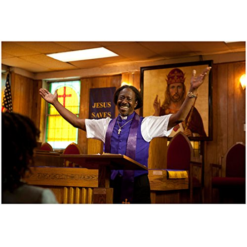 Red Hook Summer Clarke Peters as Da Good Bishop Enoch Rouse Smiling Arms Raised in Air 8 x 10 Inch Photo ()