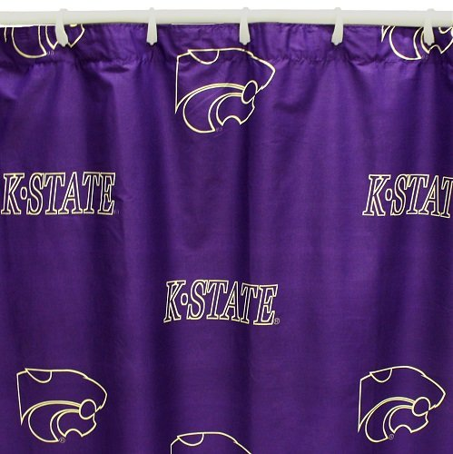Kansas State Wildcats Shower Curtain Cover Plus a Matching Window Curtain Valance - Save Big By Bundling!