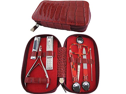 NAIL KIT Premium quality manicure set. Nail clippers, nail file, tweezers, cuticle trimmer & personal scissors. Professional grade stainless steel precision tools. PERFECT GIFT for mom wife girlfriend