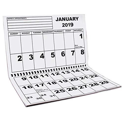 Jumbo Large Print Wall Calendar 2019 - Low Vision (Low Vision Large Print Calendar)