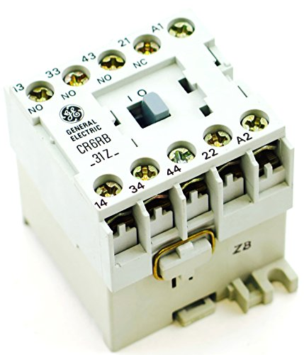 - GE Miniature Din Rail Magnetic Contactor CR6RB31ZL 3 Pole 24VDC Coil 3NO 1NC Aux Contacts fits Sprecher + Schuh CS4-31Z-24D