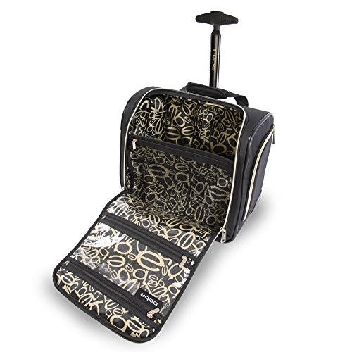 Croc Under Wheeled Black Black Croc On Seat Women's The BEBE Bag Danielle Carry qRx4UaTv