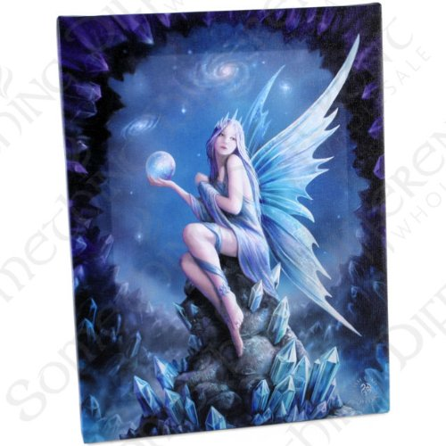 Star Gazer – A Gothic Fairy On Rock - Fantastic Design By Artist Anne Stokes – ()