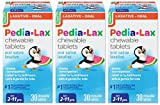 Pedia-Lax Children's Saline Laxative Chewable Tablets, Watermelon, 30 Tablets (Pack of 3) (Pack May Vary)