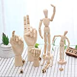 KRPENRIO Human Mannequin Model Sketching Aid with Moveable Adjustable Limbs Artist Unisex Model,Wooden Manikin Artists(6 Pack)