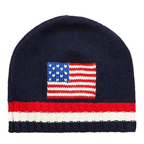 Polo Ralph Lauren Men`s Wool Blend Knit Flag Hat (Floral(PE0028-411)/Ivory, One Size) ()