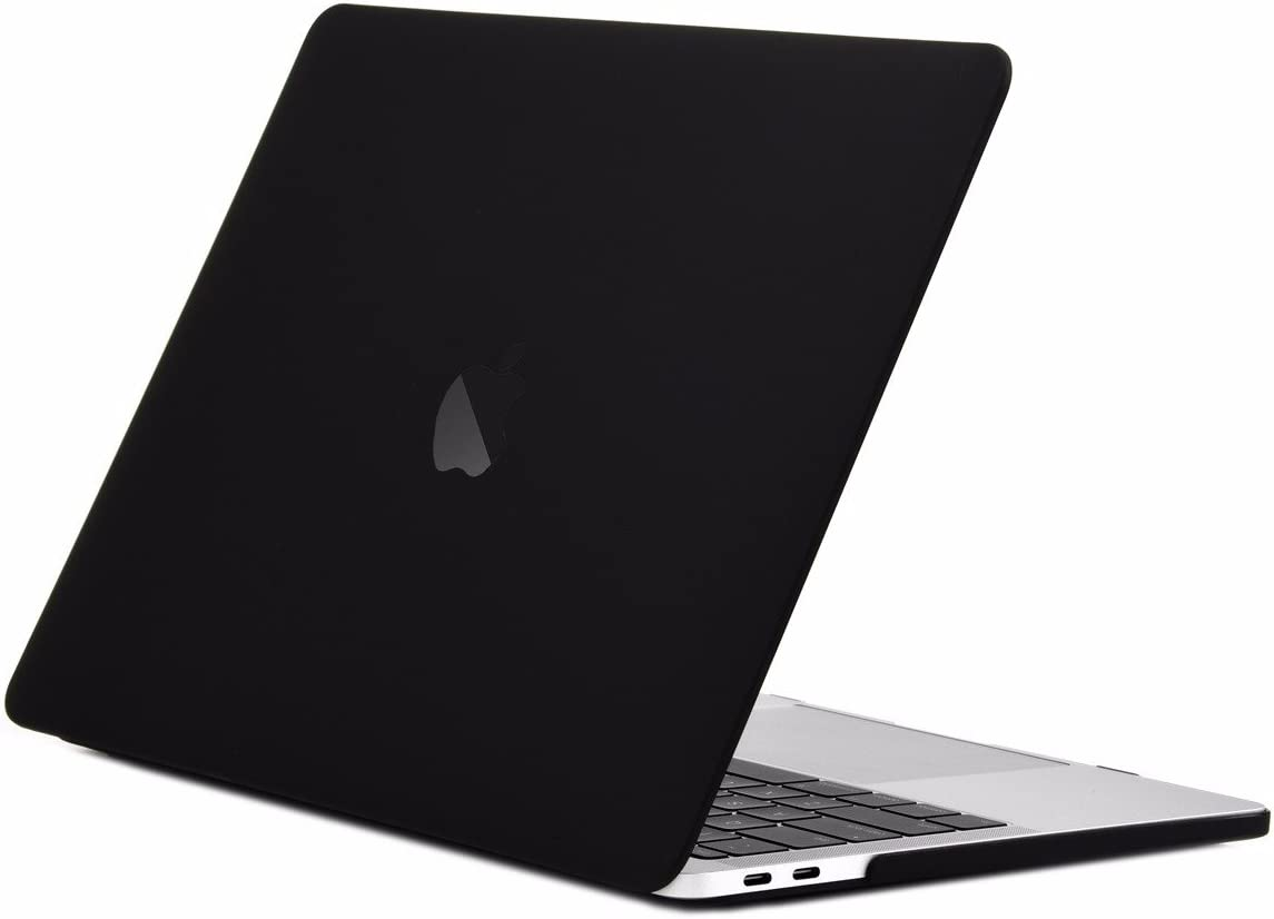 "TOP CASE MacBook Pro 13 inch Case 2019 2018 2017 2016 Release A2159 A1989 A1706 A1708, Classic Series Rubberized Hard Case Cover Compatible MacBook Pro 13"" W/WO Touch Bar – Matte Black"