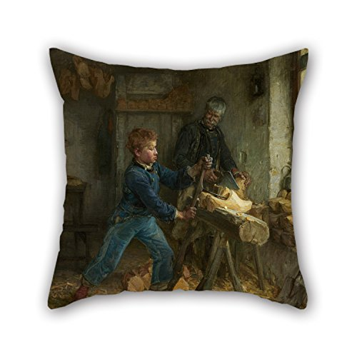Oil Painting Henry Ossawa Tanner - The Young Sabot Maker Pillow Shams ,best For Teens,home Theater,living Room,gf,home,office 16 X 16 Inches / 40 By 40 Cm(each Side) - Tanner Living Room