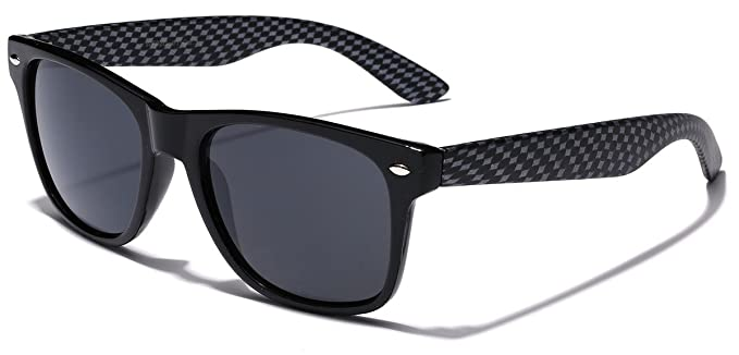 2c03b927ff Amazon.com  Carbon Fiber Style Retro Fashion Sunglasses - Black ...