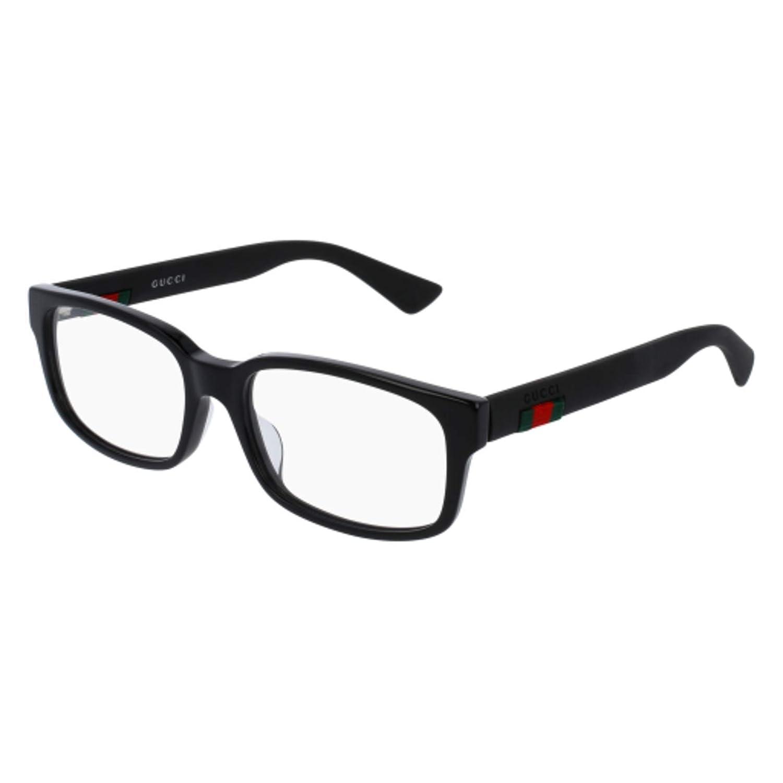 71ce04a90a4 Amazon.com  Eyeglasses Gucci GG 0012 OA- 001 BLACK    Clothing