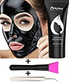 #2: Blackhead Remover Set [FREE BRUSH & TWEEZERS] Charcoal Mask with Professional for Blackheads - Black Mask for Deep Cleansing [REMOVES ACNE] Best Facial Mud Mask - Peel Off Extractor Tool Kit