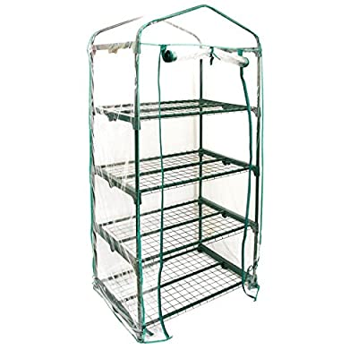 "U.S. Garden Supply Premium 4 Tier Greenhouse, 27"" Long x 19"" Wide x 63"" High - Grow Seeds & Seedlings, Tend Potted Plants by U.S. Garden Supply"