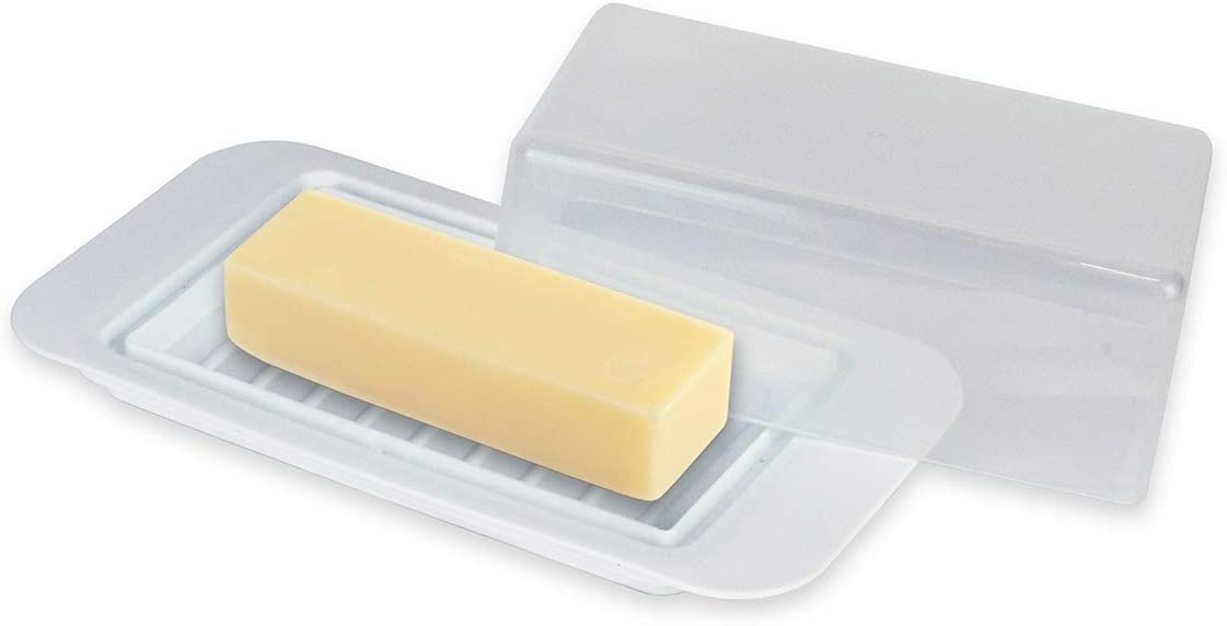 Inexpensive Standard Butter Dish, Butter Keeper Holds 1 Stick of Butter