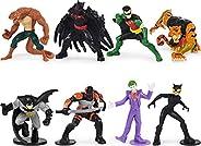 DC Comics Batman, 2-inch Scale 8-Pack of Collectible Mini Batman Action Figures (Amazon Exclusive), for Kids A