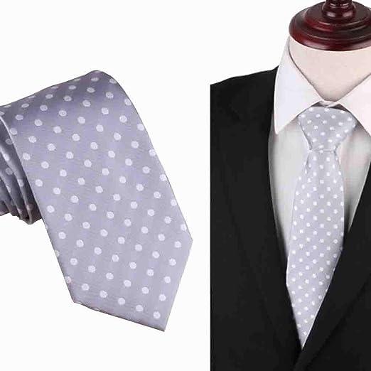 Hjyi Corbata de Traje de Negocios para Hombre, Corbata de Vestido ...
