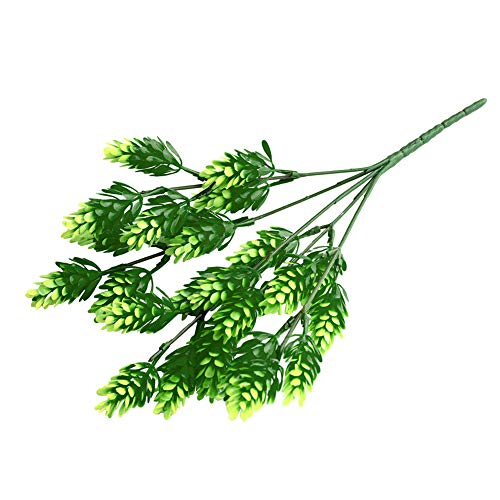 dezirZJjx Artificial Plants 1 Bouquet Artificial Cypress Leaf Grass Plant Room Office Home Garden Decor - Green
