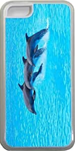 Dolphin Trio in water Design Personality Silicon Hard Luxury Case Cover For SamSung Galaxy S5 Mini (Black) By ALL MY DREAMS!!