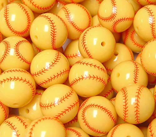 OutletBestSelling Beadwork Art Crafts Softball Style 20mm Round Beads Big Round Chunky Bubblegum Large Acrylic Crafts