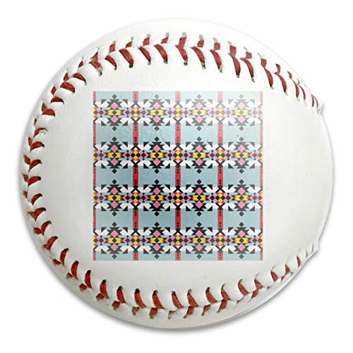 Atance Navajo Print Aztec Seamless Pattern Geometric Customized Low Impact Safety Softball Baseball for Indoor and Outdoor Training (Aztec Pitching Machine)