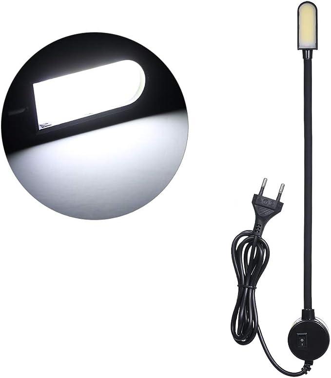 AC110-280v 3W COB EU Plug Máquina de coser Lámpara de luz Negro ...